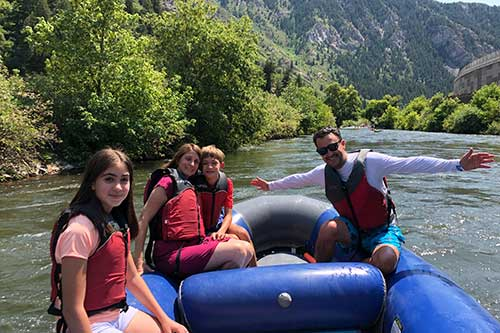 family rafting on Provo River